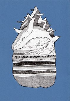 Just an order. It's based on illustration by Pat Perry, Alaska.   Ink, Rotring Isograph, A4