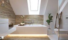 """W klimacie """"new nordic"""" - Średnia łazienka na poddaszu, styl skandynawski - zdjęcie od ELEMENTY"""