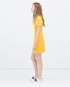ZARA - COLLECTION SS15 - V-neck #dress #Style