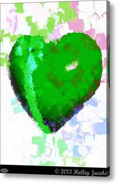 Always By Your Side Green Acrylic Print By Holley Jacobs