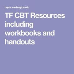 TF CBT Resources including workbooks and handouts