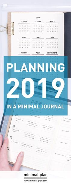 Here's how to set goals and plan projects in a minimal journal! I'm sharing my 2019 setup with loads of tips to create goal setting and project planning spreads in your bullet journal! Bullet Journal Yearly Spread, Bullet Journal Goals Page, Bullet Journal 2019, Bullet Journal Printables, Bullet Journal Junkies, Bullet Journal Inspo, Bullet Journal Ideas Pages, Bujo, Bullet Journal Minimalist