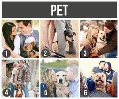 101 Tips and Ideas for Couples Photography- love this idea of including your pet!!