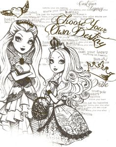 EVER AFTER HIGH COLOR PAGE 6 by obscurepairing.deviantart.com on @DeviantArt