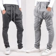 Online Shop 2014 New men pant sport joggers slim fit harem pants hip hop bandana pants outdoors jogging, sweatpants drop crotch pants men|Aliexpress Mobile