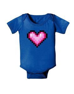 63b28c4c Pixel Heart Design B - Valentine's Day Baby Bodysuit Dark by TooLoud