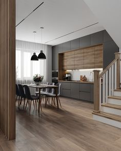 Фотографии Алексея Волкова Kitchen Room Design, Modern Kitchen Design, Kitchen Layout, Home Decor Kitchen, Interior Design Kitchen, Small Apartment Kitchen, Modern Kitchen Interiors, Minimalist Kitchen, Cuisines Design