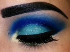 Blue...not the brow but love the eye shadows