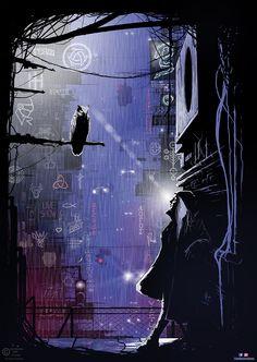 The Saint And The Owl by Akis Ntokomes (Ntok) What Is Cyberpunk, Dystopian Future, Modern City, Fantasy Illustration, Cybergoth, Future City, Artist Names, Fantasy Artwork, Science Fiction