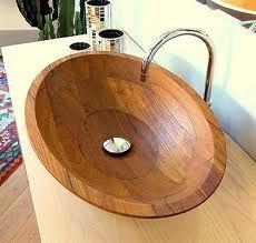 diseño de bachas de madera para el baño