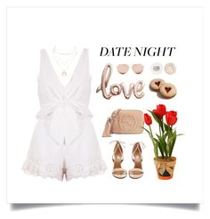 """""""Hot Summer Date"""" by thedailywear ❤ liked on Polyvore featuring Aquazzura, Gucci, Linda Farrow, Topshop and Charlotte Russe"""
