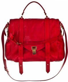 proenza schouler bag in vibrant red. U'll be mine! Ps1 Bag, Satchel, Crossbody Bag, Red Bags, Proenza Schouler, Black Handbags, Beautiful Bags, Clutch Wallet, Messenger Bag