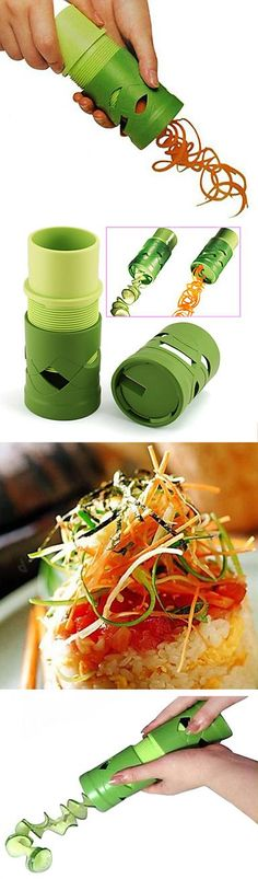 Fruit and vegetable spiralizer! Makes healthy noodles and more - clever! #product_design #kitchen