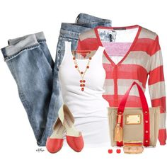 """""""Cardigan and Flats Contest 2"""" by kginger on Polyvore"""