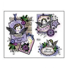 Viva Decor A5 Silicone Stamps Christmas Star Merry Christmas Re-Usable Stamps