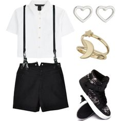 EXO - Love Me Right (Xiumin inspired outfit) by lucky-unicorn on Polyvore featuring polyvore fashion style Marc by Marc Jacobs CourtShop Supra Miss Selfridge