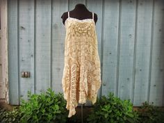 Hey, I found this really awesome Etsy listing at https://www.etsy.com/listing/193930322/med-tea-stained-doily-slip-dress