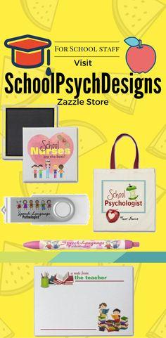 Visit SchoolPsychDesigns Zazzle store for different Product With design for School staff. School Staff, Online Business, Random Stuff, Teacher, Store, Collection, Design, Tent, Professor