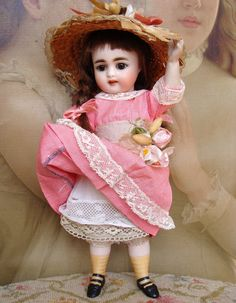 Adorable and large antique Simon Halbig all bisque mignonette. from les-fees-du-temps on Ruby Lane