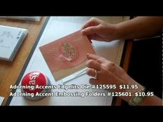 I have a new video that shows you how easy it is to line up the Adorning Accents Edgelits and  matching embossing folders.  Here are two cards showing you how beautifully they work together!      Stamp Crazy with Alison!: Adorning Accents Edgelits - Video