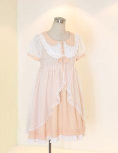 熊原創-H016-甜橙奶糖 罩纱连衣裙~-淘宝网