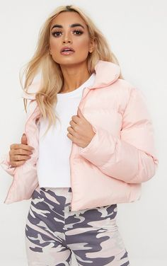 Baby Pink Cropped Puffer JacketWrap up in style girl with this must have puffer jacket. Puffy Jacket, Pink Jacket, Pink Puffer Coat, Girls Puffer Jacket, Venus Clothing, Winter Baby Clothes, Winter Fashion Outfits, Comfortable Outfits, Coats For Women