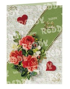 3D-Die-Cuts for Table Decorations, Size A4, red Roses-83715