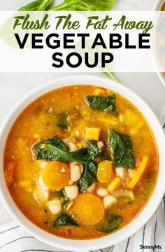 Comfort food made healthy Yup we pulled it off with this flush the fat away vegetable soup weight loss recipes for weight loss healthy soup recipes Weight Loss Soup, Weight Loss Meals, Recipes For Weight Loss, Losing Weight, Weightloss Soup Recipes, Weight Watchers Soup, Weight Loss Cleanse, Nutritious Meals, Healthy Snacks