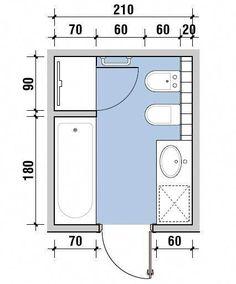 bathroom layout bathroom organization This site Small Bathroom Layout, Bathroom Design Layout, Modern Bathroom Design, Bathroom Interior Design, Restroom Design, Ideas Baños, Toilette Design, Bathroom Dimensions, Bathroom Floor Plans
