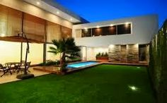 Jardim de casas modernas