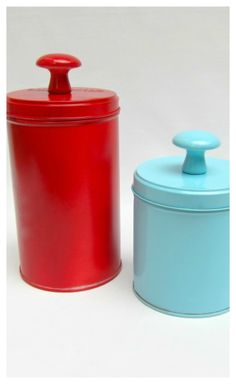Upcycled Tin Storage Containers - This craft is so easy, you'll have new kitchen gear before you know it. Before you recycle your old tin storage containers, think of how much you can still get out of them. You can use them as storage containers for anything from sugar to cookies, or even as decorations. The best part about this craft is that your tins will look so new, people will think you bought them at Target!