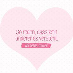 Beste Freundinnen müssen nicht flüstern.  #BFF #Geheimsprache #ABF #Freundschaft #Inspirational #Zitate #Freunde #natürlichschön #ganzschönbebe