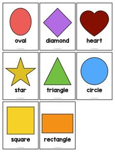 Shapes Game Cards Free Printable - The Teaching Aunt Shapes Flashcards, Shape Tracing Worksheets, Flashcards For Kids, Preschool Colors, Free Preschool, Shapes For Preschool, Preschool Learning, Preschool Ideas, Toddler Activities