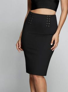 Daisi Lace-Up Pencil Skirt at Guess Online Purchase, Sexy Dresses, High Waisted Skirt, Lace Up, Lifestyle, Skirts, Politics, Clothes, Women