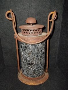 Metal Iron Mosaic Glass Candle Holder Lantern  This is from own photo collection. If you have any further information, please let me know. Thank you!