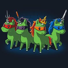Sewer Unicorns T-Shirt TeeTurtle