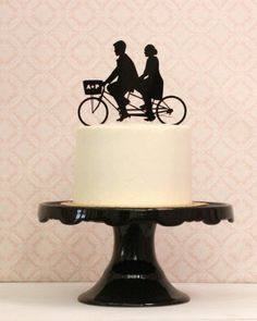 Simply Silhouette Custom Wedding Cake Topper