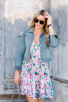 Eloise, Lila, Tiered, Chemise, Pink, Floral, Dress, Anthropologie, Illesteva, Tortoise, Round, Leonard II, Sunglasses, Rebecca Minkoff, Past...