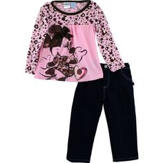 "Disney Minnie Mouse ""Leopard"" Pink Top & Pants Set 2T-4T ... http://www.amazon.com/dp/B009ZF7GRQ/ref=cm_sw_r_pi_dp_pM2pxb02RP30E"