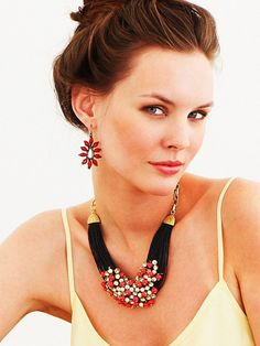 Tribal Coral Bib - Necklaces - All Jewelry