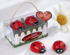 Ladybirds! Cute wedding favour