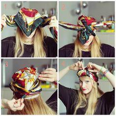 tuto porter un turban cheveux