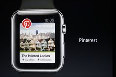 Pinterest mobile application on the new the Apple Watch