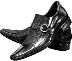 Sapato Masculino Social Bico Longo Luxo Stilo Italiano Couro - R$ 139,77 Tuxedo Shoes, Suit Shoes, Men's Shoes, Shoe Boots, Dress Shoes, Shoes Men, Sneaker Boots, Formal Shoes, Casual Shoes