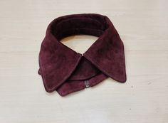 Bordeaux suede collar! 50$!