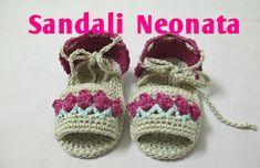 Sandali Neonata Uncinetto Tutorial  #4#