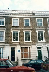23 Fitzroy Road, London, where Sylvia Plath committed suicide- London, England