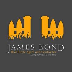 Logo: James Bond Real Estate by Christian Beausoleil, via Behance