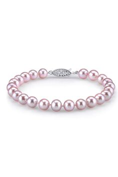 Lavender Freshwater Pearl Bracelet.