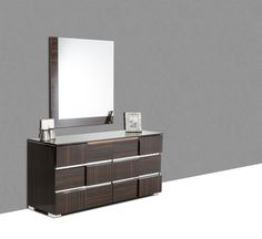 Additional 20% off!! Modrest Picasso Italian Modern Ebony Lacquer Dresser - @ Home Furnishings of Florida Corp